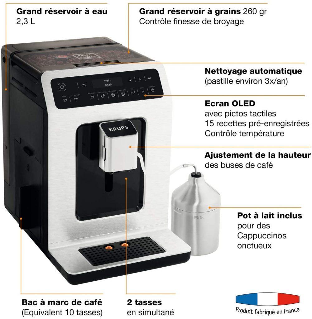 Les caractéristiques de la machine à café Krups EA891D10 : test et avis