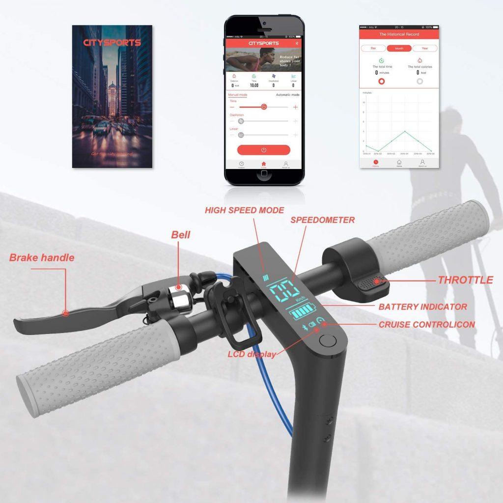 Les caractéristiques de la trottinette électrique CITYSPORTS