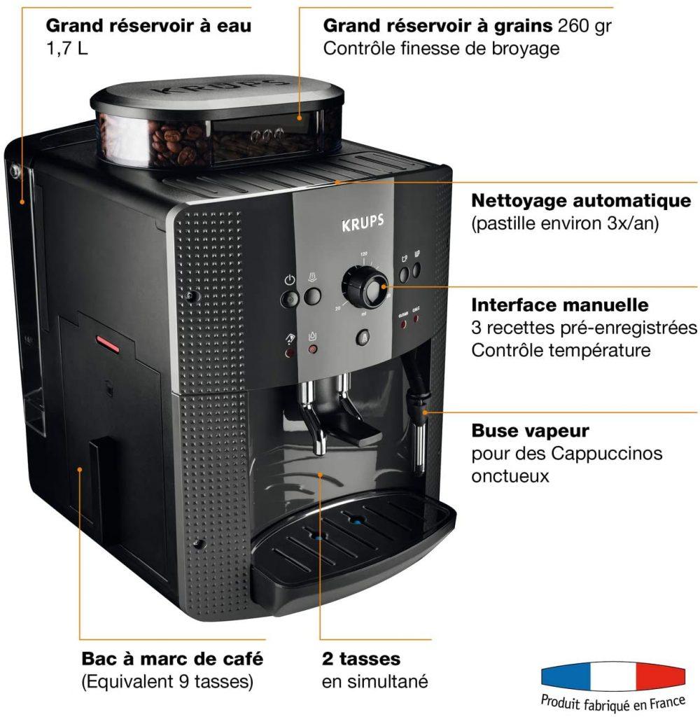 Les caractéristiques de la machine à café Krups YY8125FD