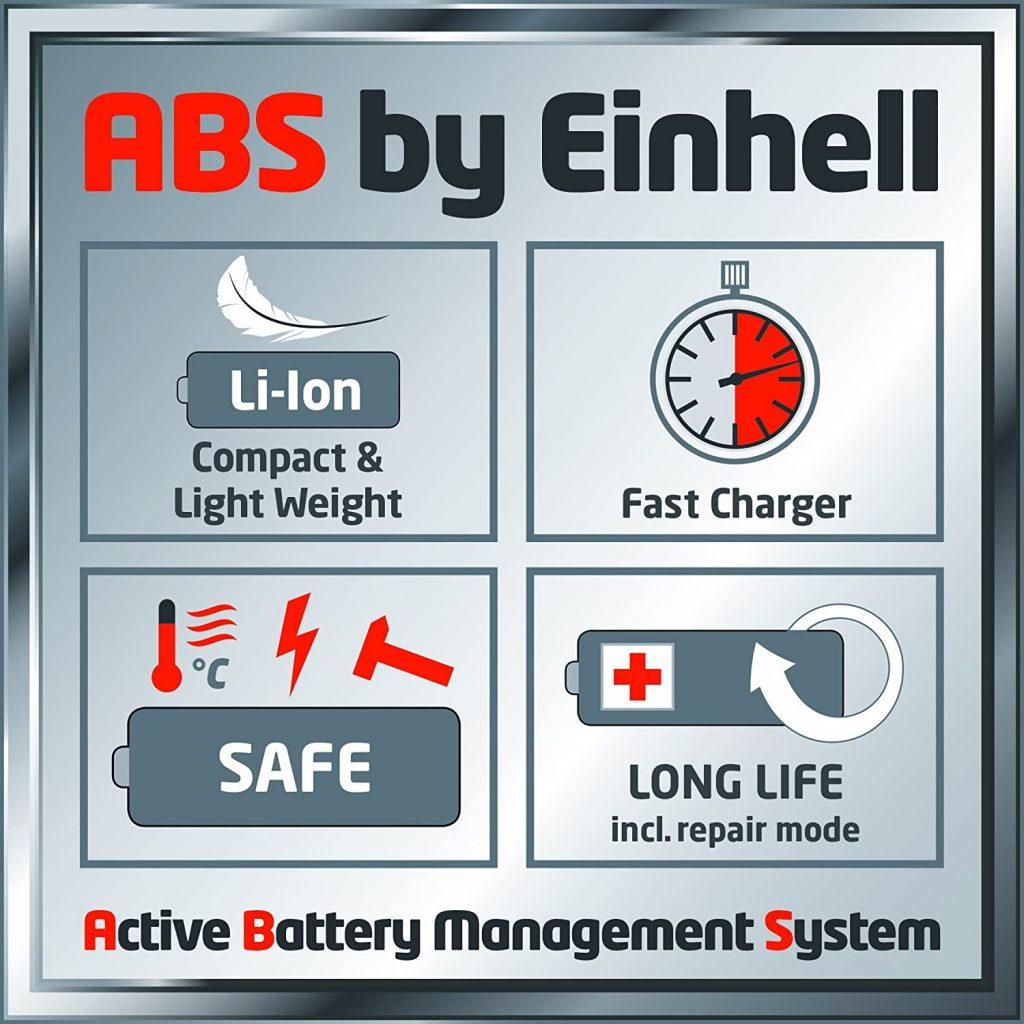 Les caractéristiques du souffleur Sans Fil Einhell GE CL 18 Li-E