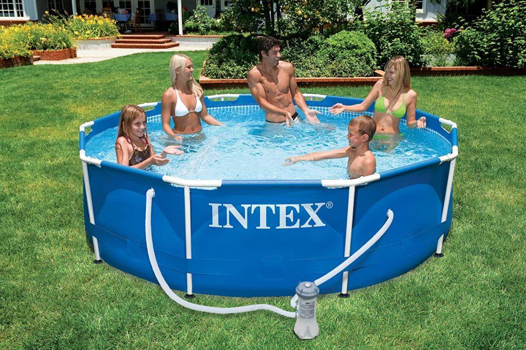 INTEX Kit piscinette Metal Frame ronde