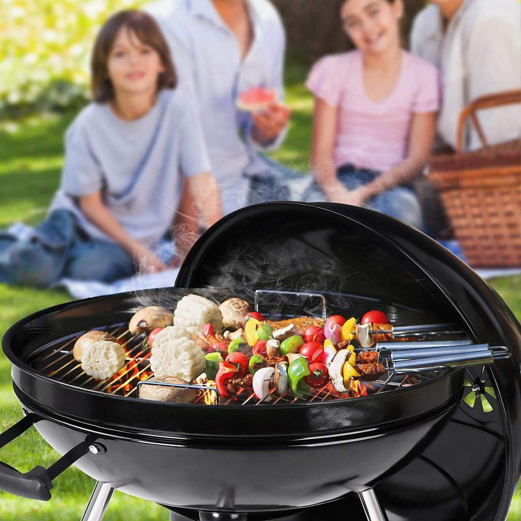 Le test de SONGMICS Barbecue au Charbon de Bois GBQ22BKV1