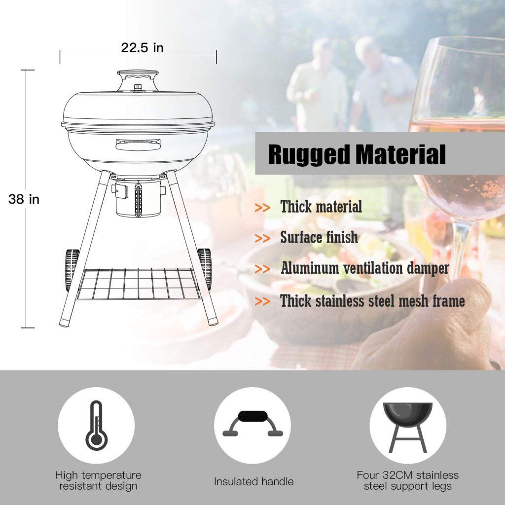 Les caractéristiques de TACKLIFE Barbecue au Charbon de Bois CG02A