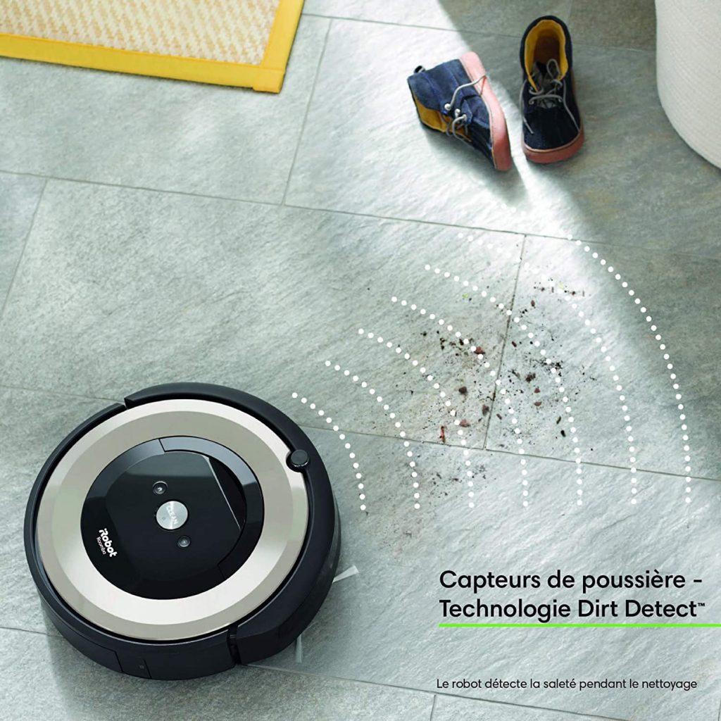 Les caractéristiques du robot aspirateur iRobot Roomba e5154