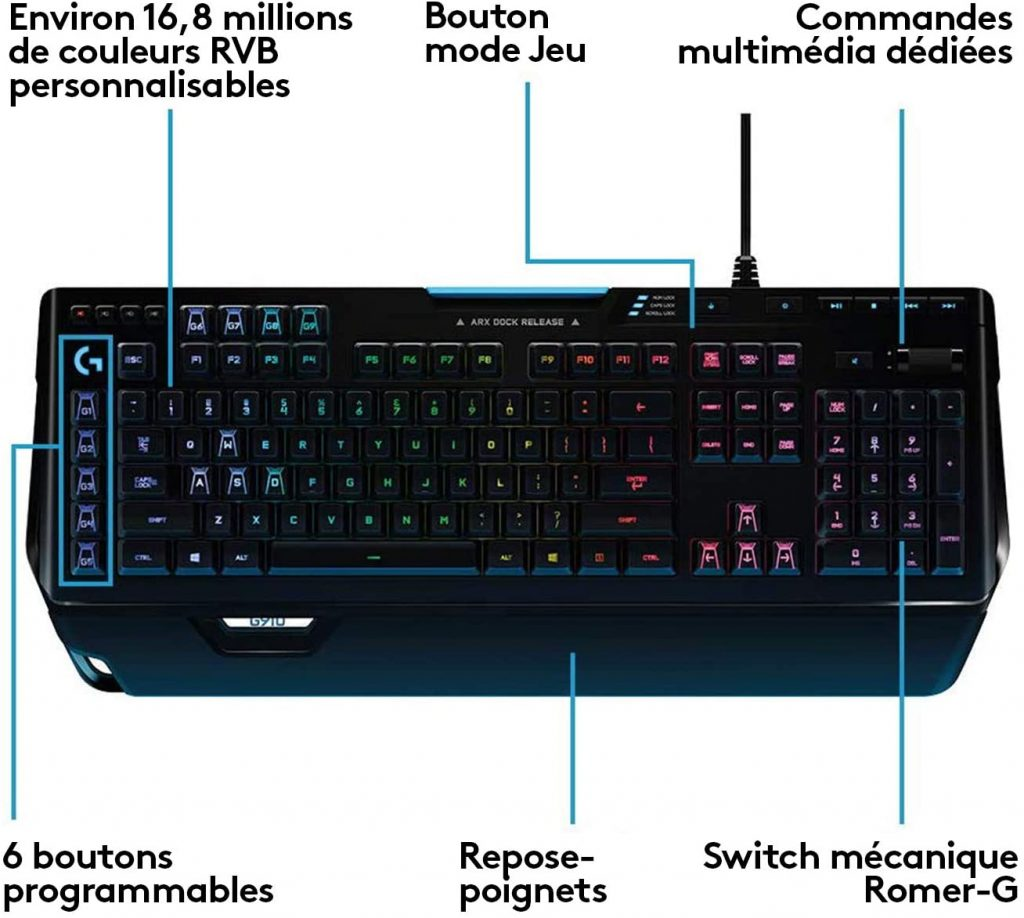 Logitech G910 Orion Spectrum - Clavier Gaming Mécanique RVB