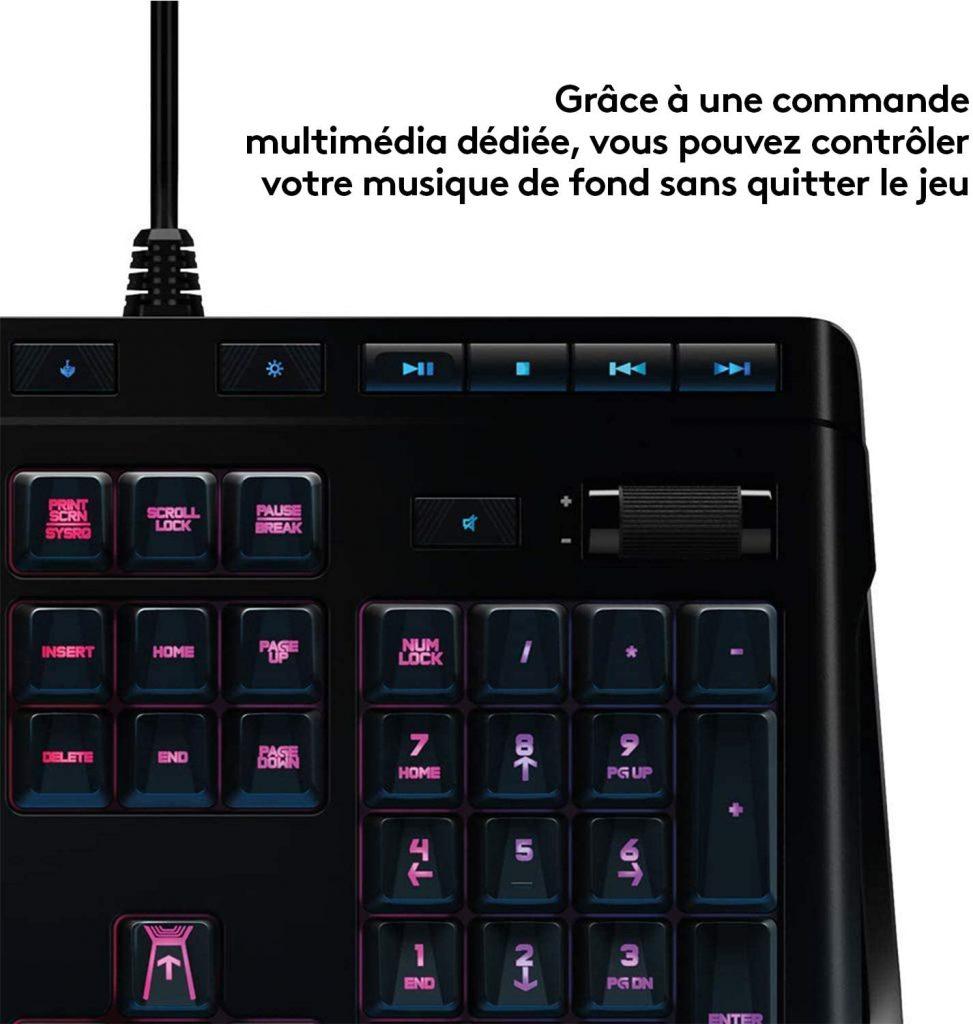 Les caractéristiques de Logitech G910 Orion Spectrum - Clavier Gaming Mécanique RVB